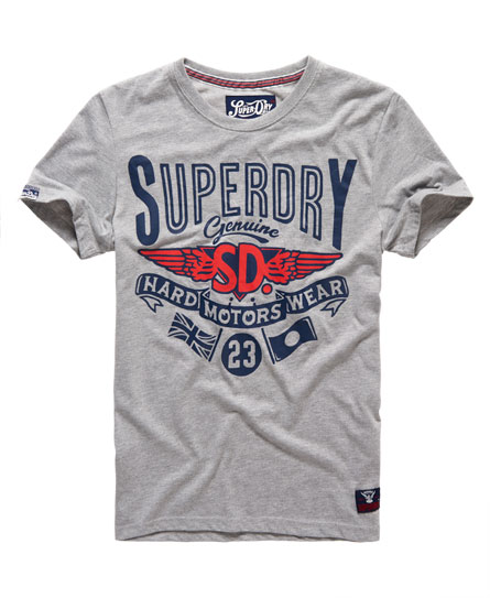 mens hard wear t shirt in grey marl superdry. Black Bedroom Furniture Sets. Home Design Ideas
