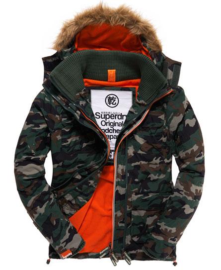 Superdry Polar Fur Windcheater Green