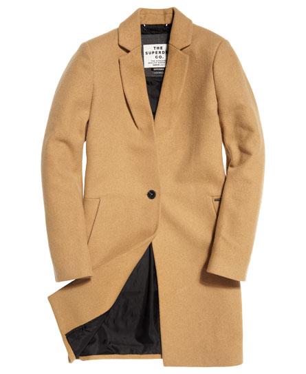 Manteau femme camel superdry