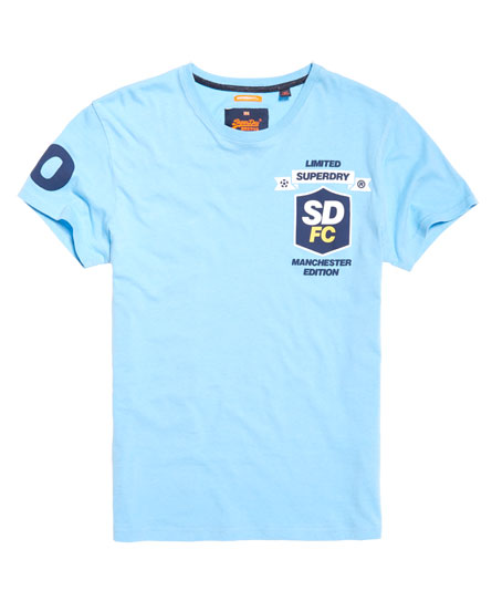 league blue Superdry Limited Edition Modern Soccer T-shirt