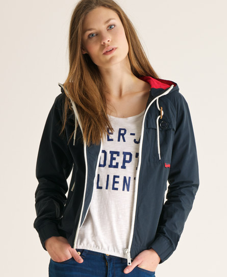 Superdry Hooded Dock Jacket Navy