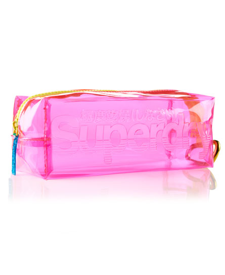 pink Superdry Jelly Pencil Case