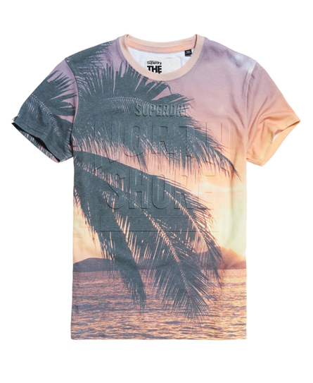 Superdry california all over print t shirt herren t shirts for All over print t shirt