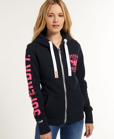 superdry pegasus kapuzenjacke damen hoodies. Black Bedroom Furniture Sets. Home Design Ideas