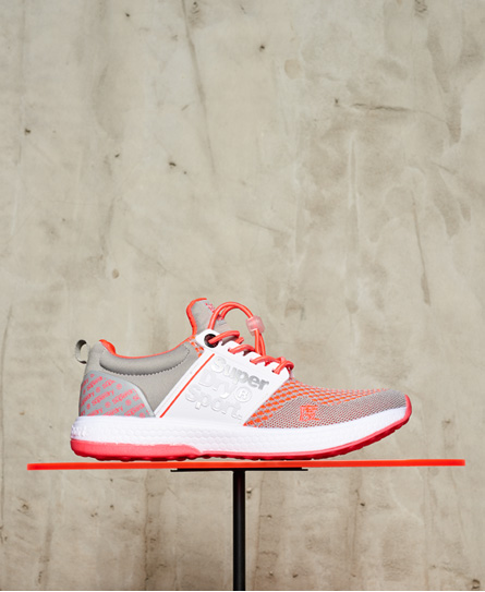 gris/rose/blanc Superdry Baskets Super Freesprint