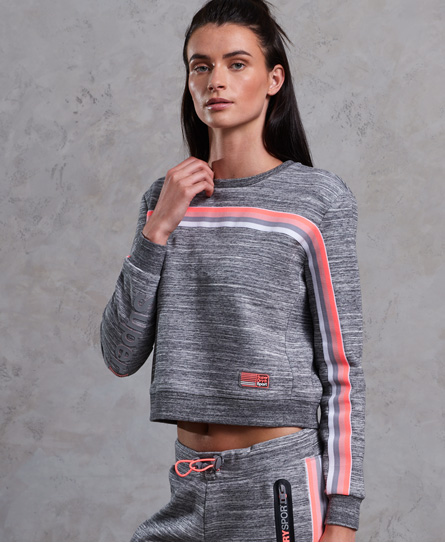Se Superdry Superdry Kort Gym Tech Bounce sweatshirt med rund hals ved SuperDry