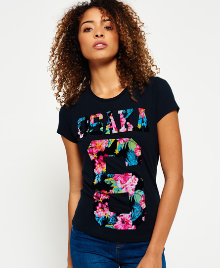 bleu marine pavillion Superdry T-shirt Osaka Tropical Flock