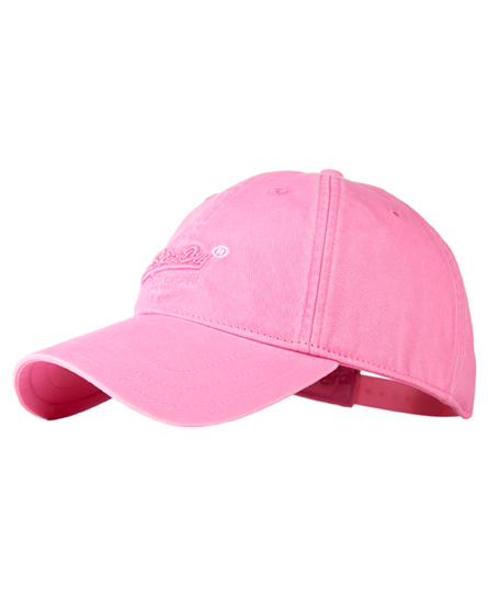 pink Superdry Orange Label Solo Cap