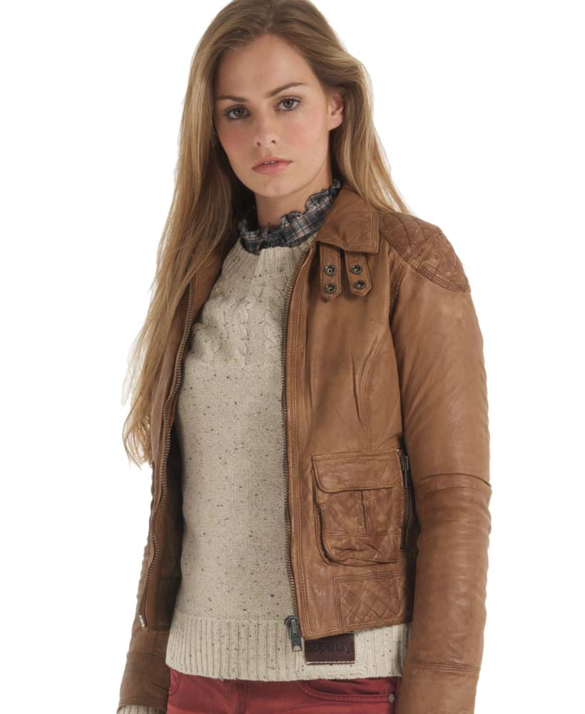 Superdry Warbird Jacket Brown