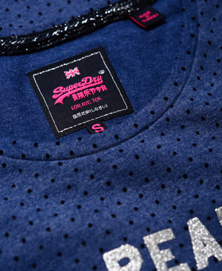Superdry Vintage Logo Flock Dot T-shirt