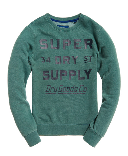 Superdry The Industry Over Dyed Crew Jumper