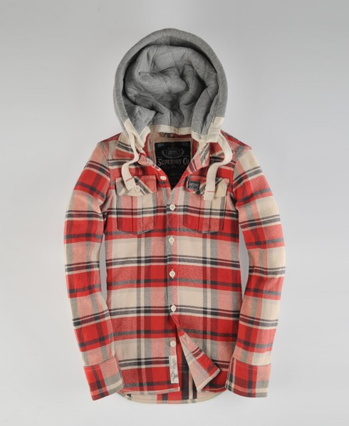 Superdry Lumberjack Hood Red
