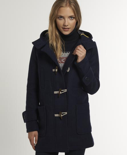 Womens - Paddington Duffle in Navy | Superdry