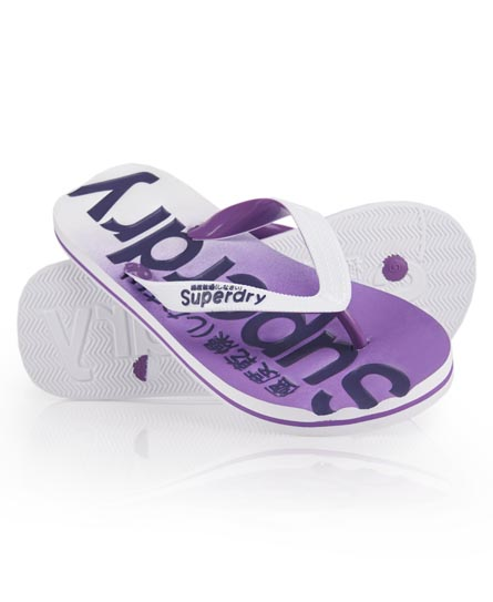 Superdry Fade Flip Flop Purple