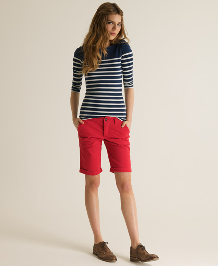 Womens Red Chino Shorts - Hardon Clothes
