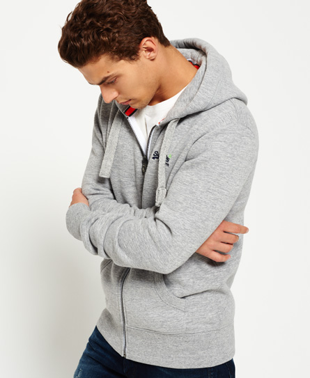 iced grey grit Superdry Orange Label hættetrøje med lynlås