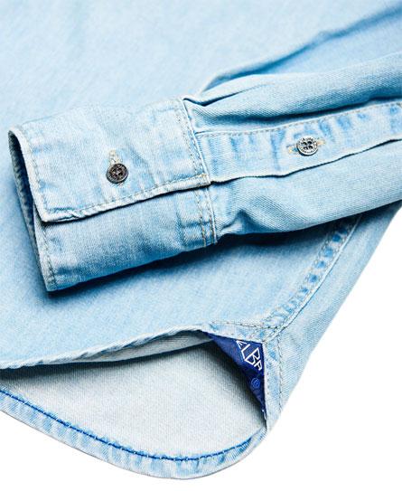 Superdry IE Ghost Button Down Denim Shirt