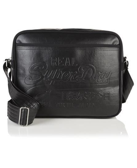 black Superdry Hot Stamp Alumni Bag