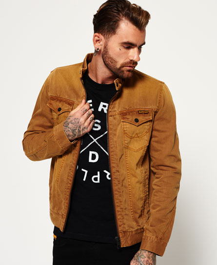 dusted rust Superdry Denim Biker Jacket