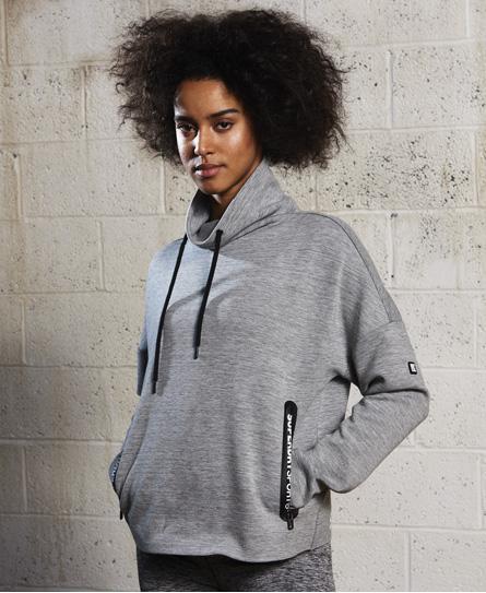 SD Sport Gym Tech Luxe Hoodie mit Trichterkragen