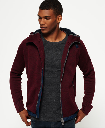 oxblood Superdry Storm Double Zip Hoodie
