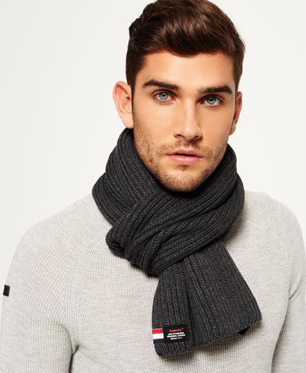深灰色/炭黑色 Superdry Stockholm围巾