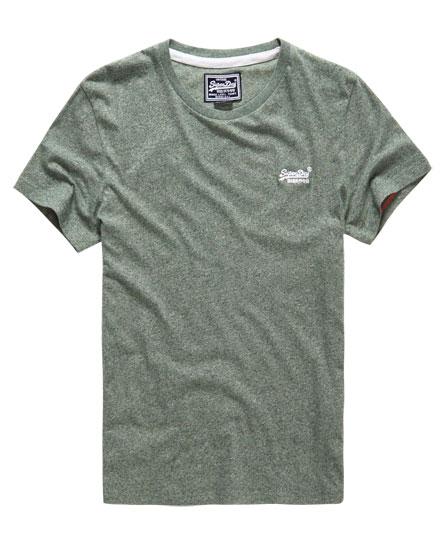Mens vintage embroidery t shirt in leaf jaspe superdry