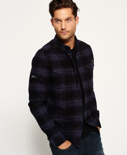 Superdry Rookie Plaid Shirt Dark Grey