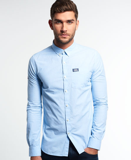 end on end sky/optic dot Superdry Shoreditch Button Down Shirt