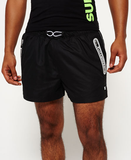 black Superdry Sports Active Training Shorts
