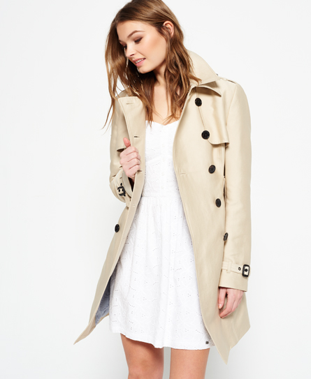 sand Superdry Belle Trench Coat