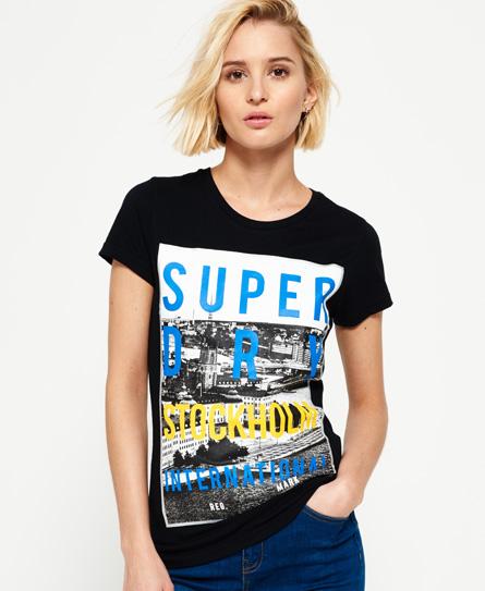 noir Superdry T-shirt Box Photo City Stockholm