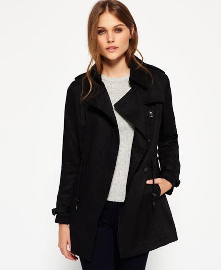 jackets rolled sleeve size draped trench p drapes khaki ladies coats coat plus