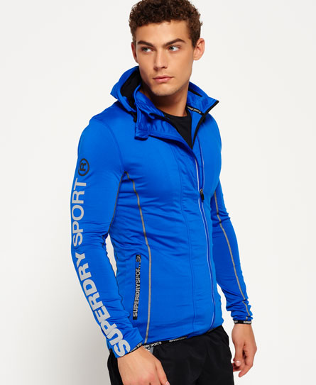 Sports Athletic Panel Zip Hoodie