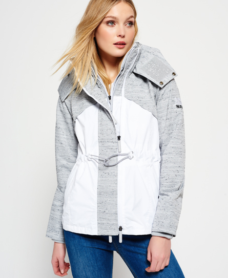 light grey slub/winter white Superdry Veste Wind Hybrid