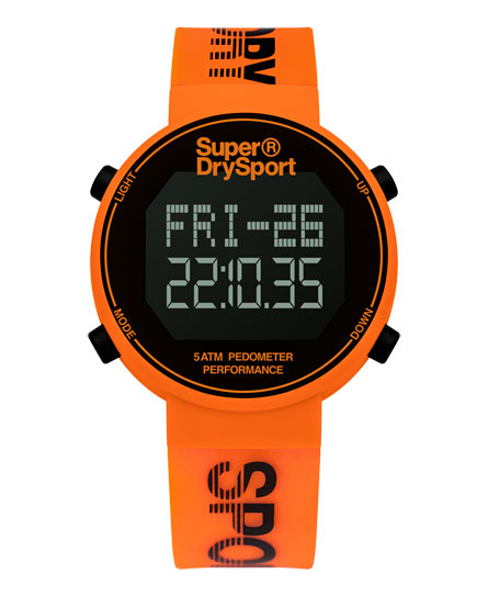 Superdry Podomètre digital Orange