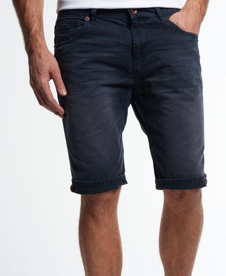 Superdry Worn Wash Jean Shorts Blue