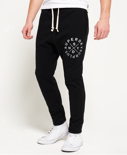 tiefschwarz Superdry Surplus Goods Jogginghose