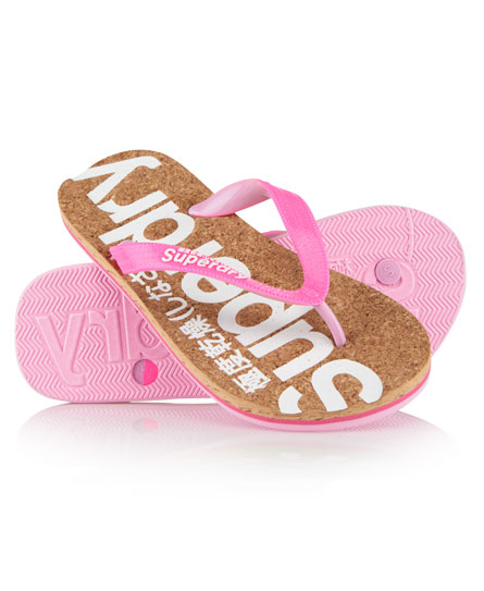 Superdry Cork Flip Flops Multi