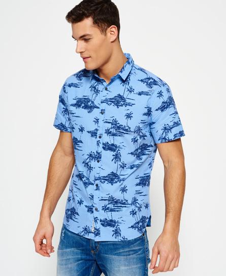 Superdry Superdry Ultimate Indigo Aloha skjorte