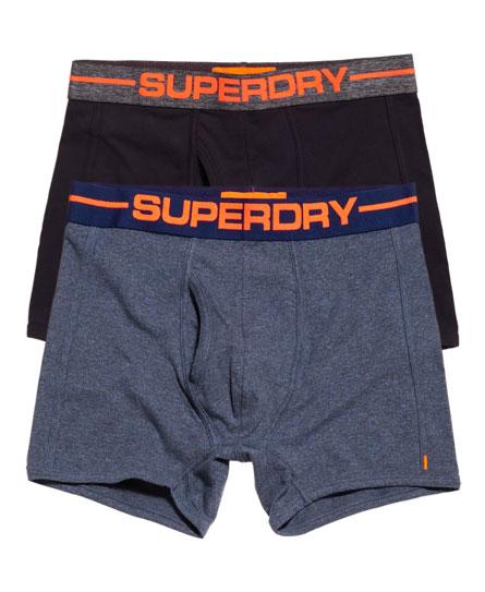 bleu marine chiné/Éclipse totale Superdry Lot de deux boxers de sport