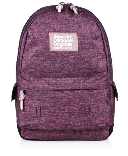 dark purple glitter Superdry Cinda Montana Rucksack