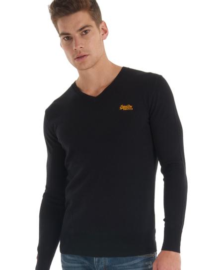 Superdry Orange Label Vee Neck Black