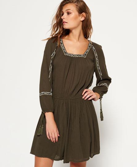 Superdry Topeka Kleid mit Carré-Ausschnitt Grün