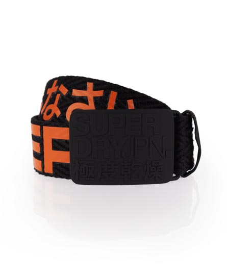 Superdry Sid Herringbone Belt Black