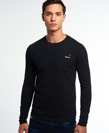 Superdry Vintage Embroidery Long Sleeve T-shirt - Men's Tops