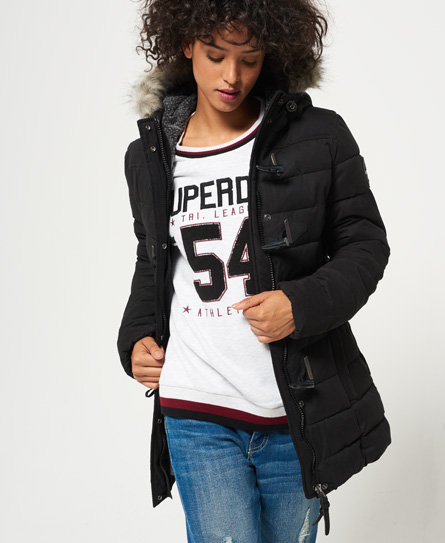 Superdry Superdry Lang Microfibre Toggle Puffle jakke