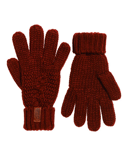 dark rust Superdry North Gloves