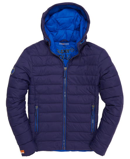 Superdry Fuji Fixed Hood Jacket Blue