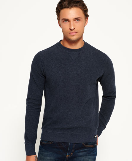 Superdry Tailorman Crew Neck Jumper Navy